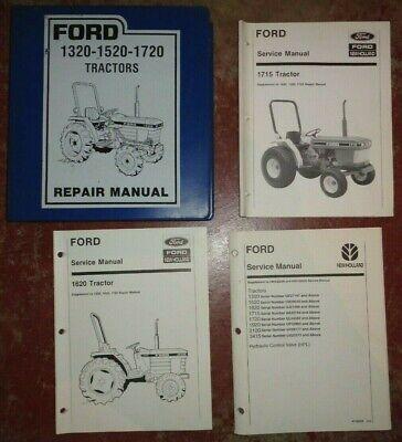 Ford 1320 1520 1720 Tractor Service Repair Manual 1620 1715 Supplement Original