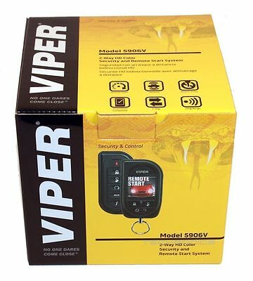 VIPER 5906V 2-Way Security Alarm and Remote Start System w/ HD Color Remote NEW