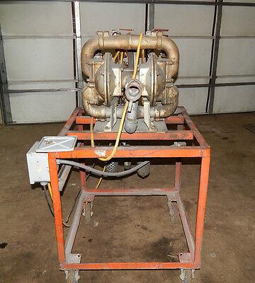 Warren Rupp Sa2-a Sandpiper Diaphragm Pump Set Up For Waterchemicals Da-3-c