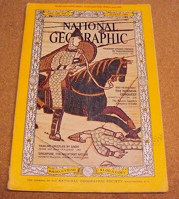National Geographic August 1966 Ouagadougou Norman Conquest Radio Singapore