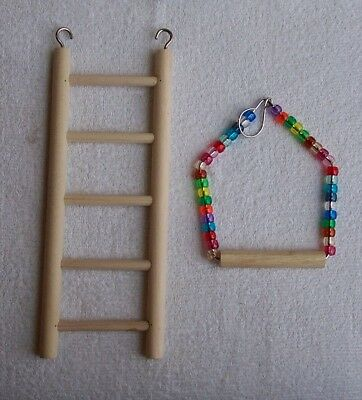 Small Ladder and Small Beaded Swing for smaller birds parakeet love bird finch