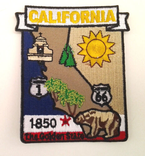 CALIFORNIA STATE MAP Biker Patch PM6705-2 EE