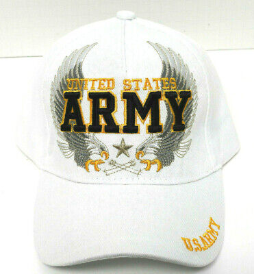 U.S. ARMY VETERAN Cap/Hat w/Eagles WHITE Military Free shipping NEW