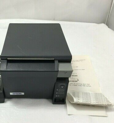 Epson Tm-t70 Pos Thermal Receipt Printer Model M225a Wo Ac Adapter Tested
