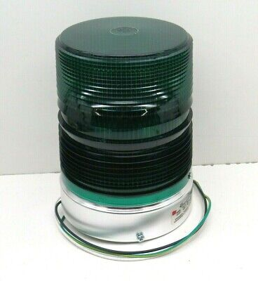Federal Signal 131st-120g Starfire Green Pipe Mount Strobe Light 120vac