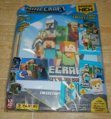 Panini Minecraft Adventure Trading Collection: Album Starter Pack + 24 Cards