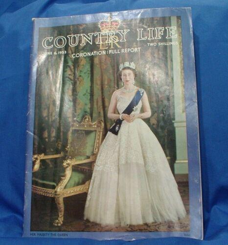 1953, 1954 Country Life Magazines Queen Elizabeth II Coronation