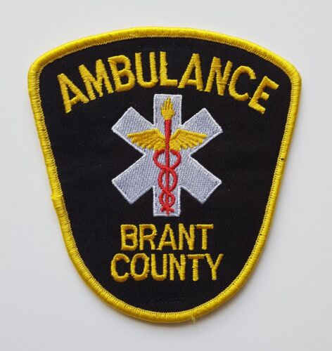 Brant County Ontario Canada EMS Paramedic Ambulance patch, new condition