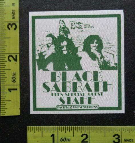 "BLACK SABBATH,Original RARE adhesive cloth ""STAFF""Backstage pass.1970"