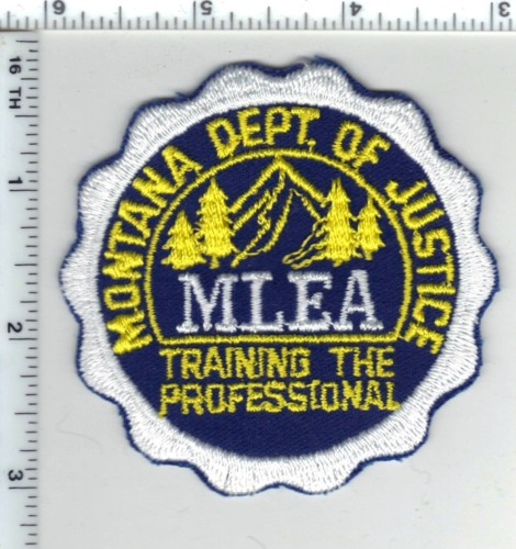 Montana Department of Justice (MLEA) Cap/Hat Patch - new from the 1980
