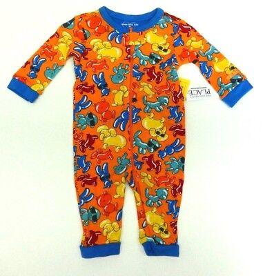 Schlafanzug Einteiler ohne Füße 56/62 Reißverschluss USA size 0-3 month Tiere