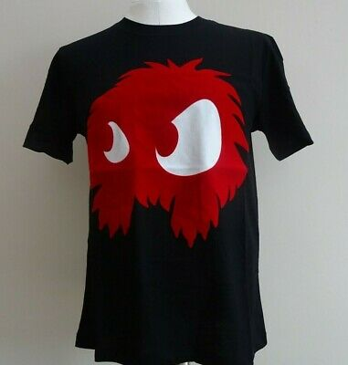New ALEXANDER MCQUEEN Medium Black/Red Flocked Monster McQ T-Shirt M