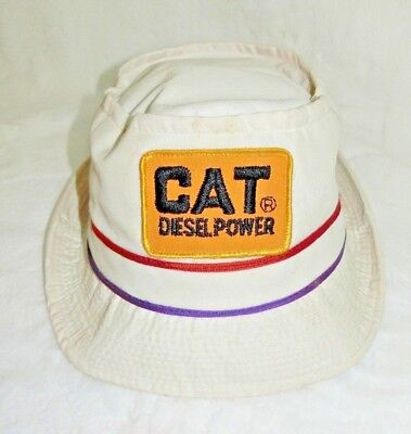 CAT Diesel Power Bucket Hat XL Bowl Cap Caterpillar Tractor Richmond VA USA VTG