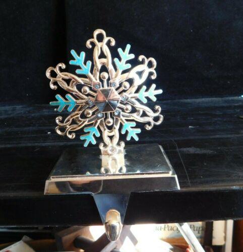 Snowflake Harvey Lewis Metal Stocking Holder