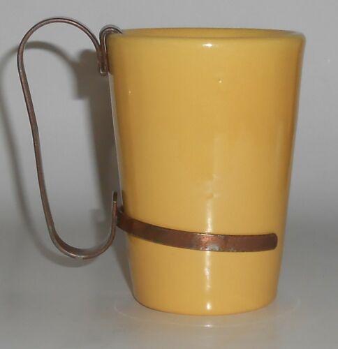 Catalina Island Pottery Yellow Tumbler w/Handle