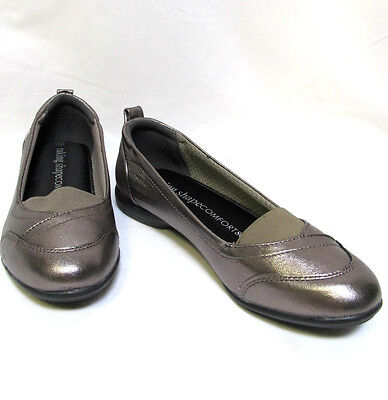 TS shoes TAKING SHAPE sz 7 / 38 Helen Leather Ballet Flats comfy pewter NIB! 1