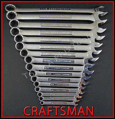 CRAFTSMAN HAND TOOLS 32pc LOT 12pt SAE & METRIC Combination