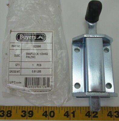 Buyers Snap Lock 12 In Sq Pin Zinc Stainless Steel Multipurpose B2586 Cs