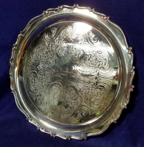 F.B. Rogers Silver Co. Silverplate Tray, 14 3/4 inches.