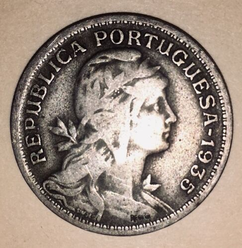 1935 Portugal 50 Centavos Rare Date Old Coin Antique Coin