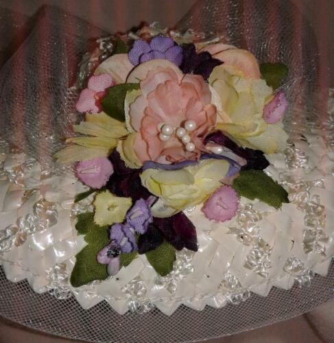 Vintage floral combo 50s style hat bag Madame Alexander Cissy Richard Original