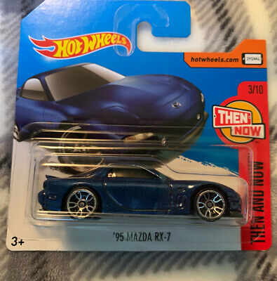 Hot Wheels 2017 Short Card '95 Mazda RX-7 Then And Now 3/10 New On Card