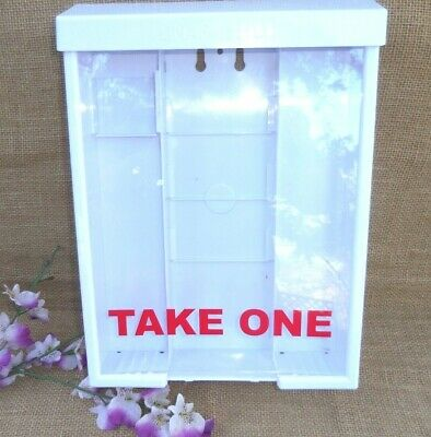Take One  Wall Mount Brochure Flyer Holder Box  White