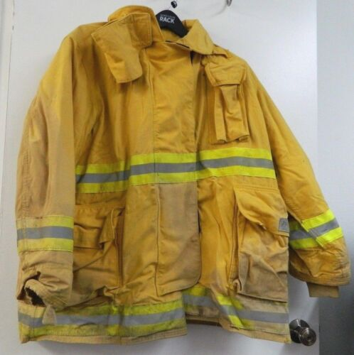 FYREPEL Firefighter Turnout Gear Bunker Padded Jacket Yellow Size X-LARGE #11