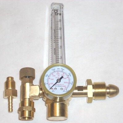 Argon Or Argonco2 Gas Mix Flowmeter Mig Tig Welding Regulator Cga 580
