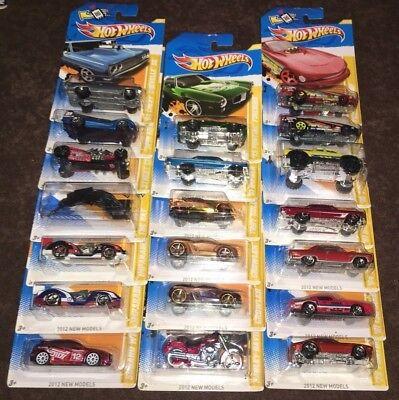 HOT WHEELS 2011 NEW MODELS, 2012 NEW MODELS  *** YOU CHOOSE***