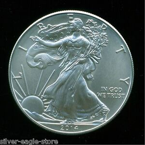 2014-SILVER-AMERICAN-EAGLE-UNCIRCULATED-1-OZ-999-FINE-BULLION-DOLLAR-OUNCE-UNC