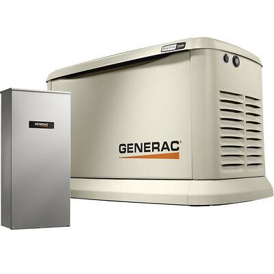 Generac 7043 Standby Generator 22kw Guardian Wifi 200a Auto Transfer Switch New