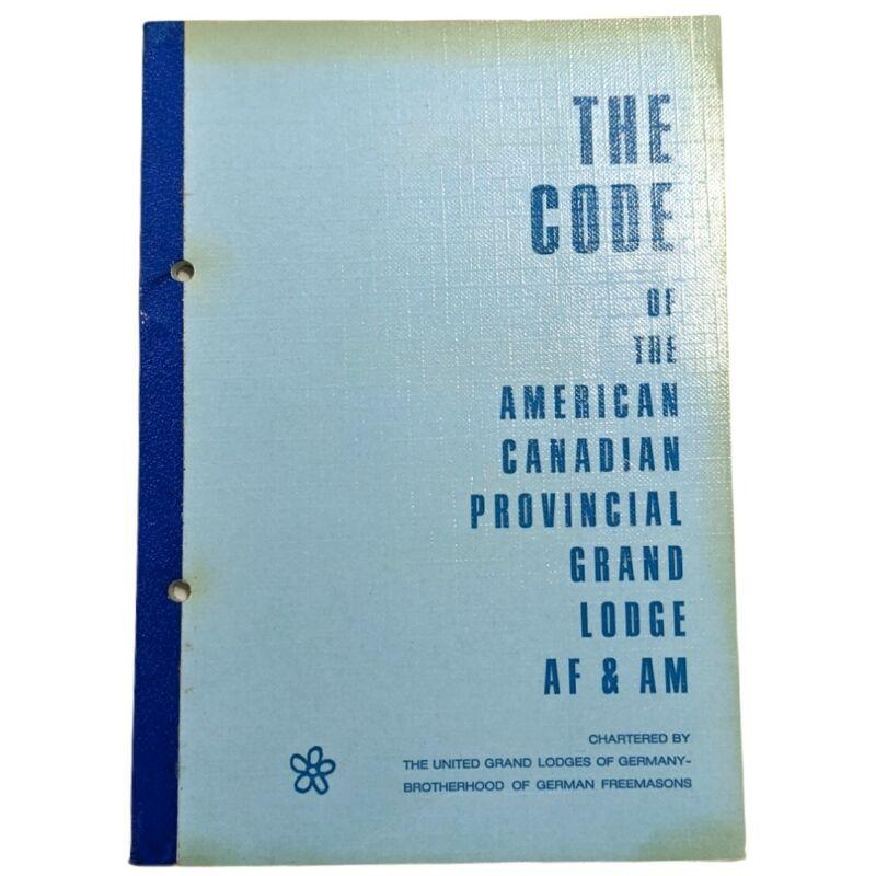 Freemason Grand Lodges of Germany Brotherhood American Canadian AF & AM Code