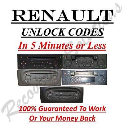 Renault Radio Unlock Code - Clio Grand Kangoo Laguna Megane Scenic Traffic
