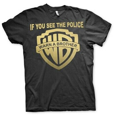 If You see the Police Warn a Brother - Tshirt MC Rocker Biker 1%er onepercenter