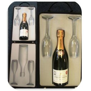 Deluxe champagne gift set picnic cooler 2 glasses included zip up bag