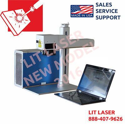 Portable 20watt Laser Marking Engraving Cutting System W Rotary