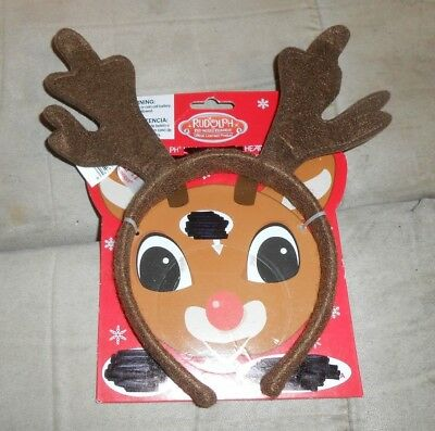 Rudolph Brown Reindeer Headband  New with - Rudolph Headband