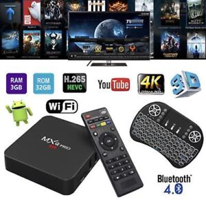 NEW! MX/R PRO 3/32GB ANDROID TV BOX KODI APPS FREE KEYBOARD Hallam Casey Area Preview