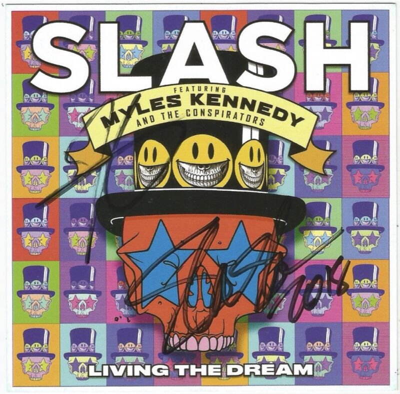 Slash & Myles Kennedy Living The Dream - CD / SIGNED / AUTOGRAPHED