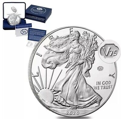 *IN HAND*End of World War II 75th Anniversary American Eagle Silver Proof Coin