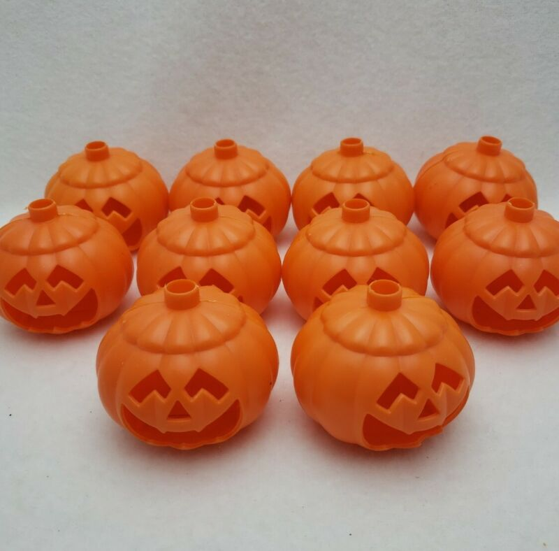 10 Vintage String Light Covers Jack O Lanterns Cut Out Faces Replacement Parts