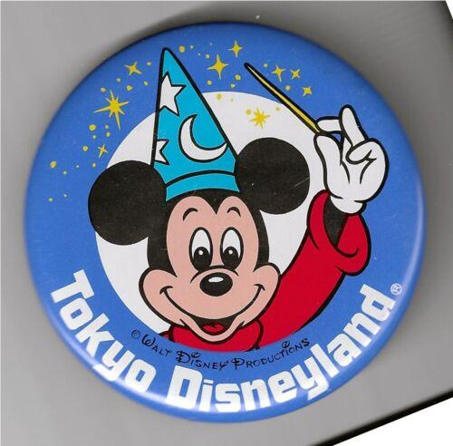 Tokyo Disneyland - Sorcerer Mickey Button - New - WDP