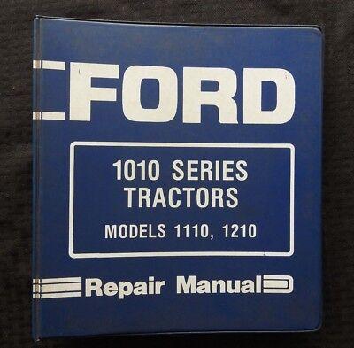 Genuine 1984 Ford 1010 1110 1210 Tractor Service Repair Manual Wbinder Good 1