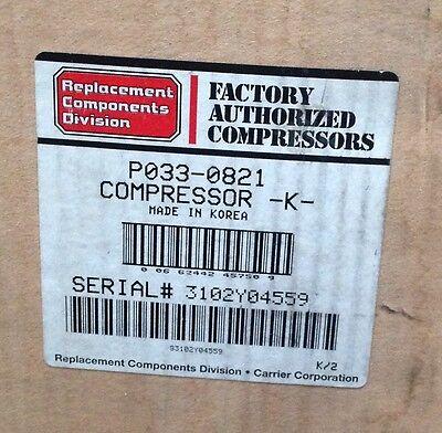 Discount Hvac Cp-p0330821 -carrier Compressor 208230v 1ph Hpac Free Freight