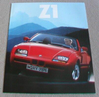 BMW Z1 ENGLISH SALES BROCHURE 1990
