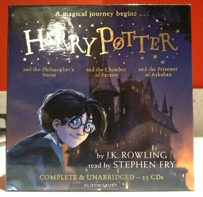 Harry Potter Books Collection Audio Books 1-3(25 cd) new and factory sealed (Harry Potter Audio Cd Collection 1 5)