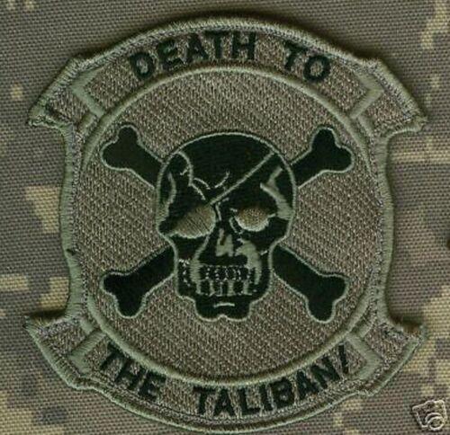 ORIGINAL 90s DESIGN ACU Gray DEATH TO TALIBAN burdock-vêlkrö PATCH (approved)