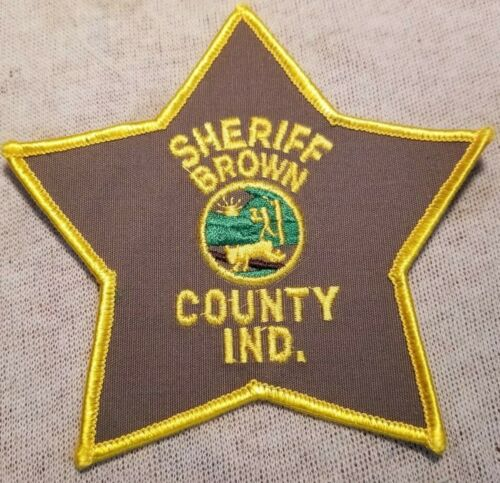 IN Brown County Indiana Sheriff Patch
