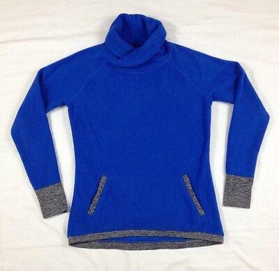 Be Inspired Womens Pullover Jacket Cowl Wrap Neck Kangaroo Pocket Thumb Holes S
